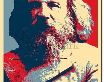 Dmitri Mendeleev Original Art Print - 12x8 Inch Photo Poster Gift - Barack Obama Hope Parody