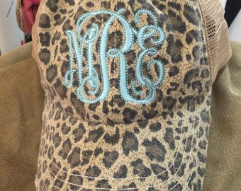Cheetah, Leopard, monogrammed Cap