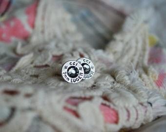 Bullet earrings, Bullet jewelry, Earrings, Stud earrings, 9mm, 45cal