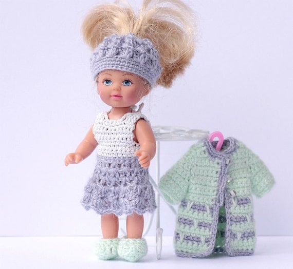 Crochet Mini Doll Clothes : Doll crochet clothes for 4,3