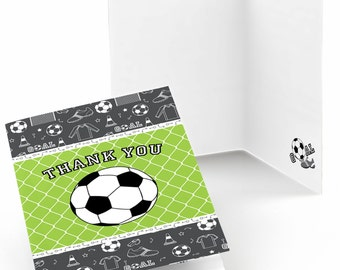 Set of 8 GOAAAL! - Soccer Thank You Cards - Party Supplies