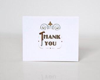 Nouveau Victorian Thank You Card