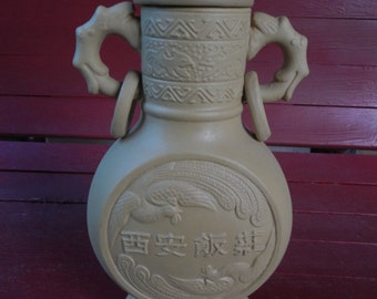 Unique Asian Pottery Bottle!