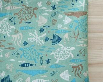 Aquarium Fish Pattern Cotton Fabric by Yard