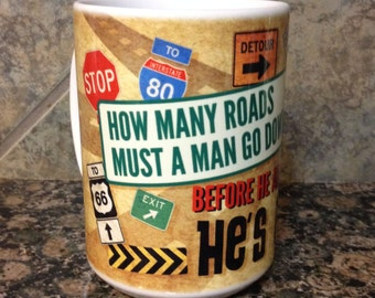 Funny He's Lost Coffee Cup Candle You Choose Your Scent and Color!