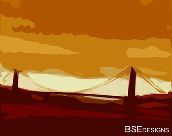 Golden Gate Bridge Art Print - San Francisco Art- California Photograph - California Wall Decor-Bridge Photography-Abstract Wall Decor