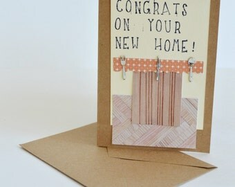 Congratulations on Your New Home Card, Congrats New Home Card, New Homeowners' Card, Funny Congratulations Card, New Homeowner Card