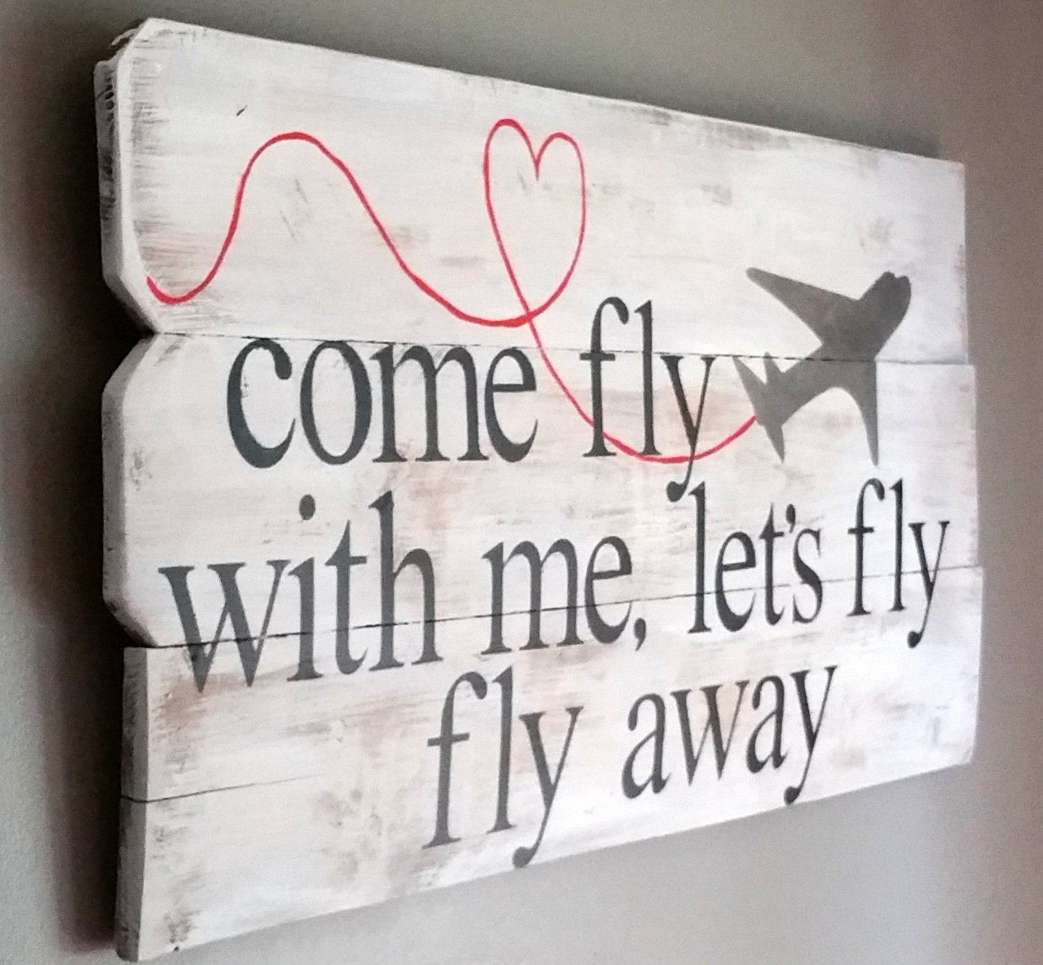 reclaimed cedar wood sign frank sinatra song lyric come fly with