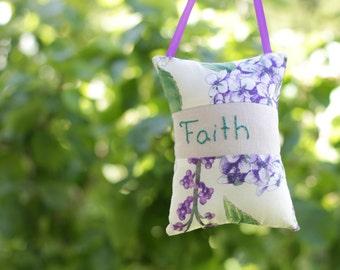 Door Knob Pillow Hand Embroidered Religious Home Decor Faith
