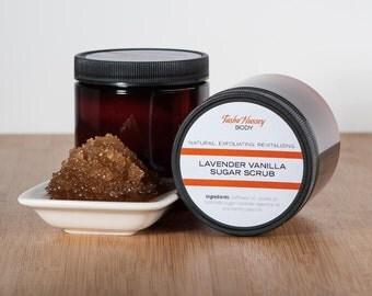 Lavender Vanilla Sugar Scrub, Sugar Scrub, Lavender Sugar Scrub, Vanilla Sugar Scrub