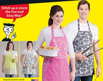 Simplicity Pattern 1140 Aprons in Four Styles