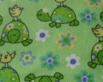 Bird on the Turtle Anti Pill Fleece Fabric by the Yard