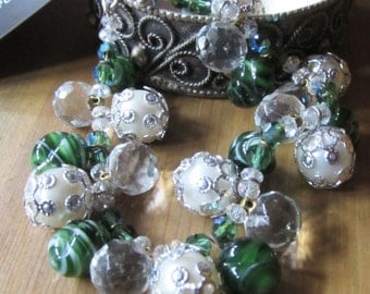 Sea Pearl charm Bracelet - 1950 pearls with Deco Agate and AB crystal