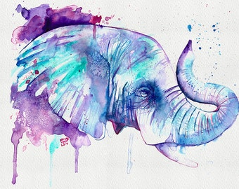 Elephant Fine Art Print of the original watercolour