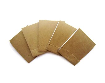 2.5 x 3 Notepads/ Mini Notepads / Extra Large matchbook notepads/ Small Memo / Pocket notepads/  Kraft personalized notepads / Set of 12