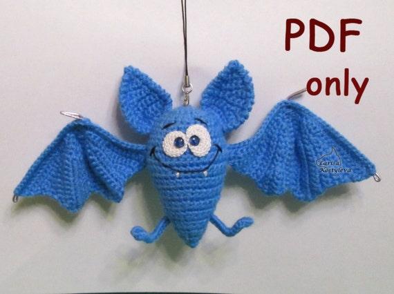 Funny Bat crocheted amigurumi PDF pattern by jasminetoys ...