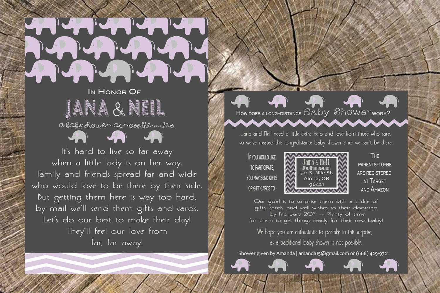 long distance baby shower x invitation and x by jsdesigns, Baby shower