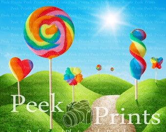 7ft.x7ft. Land Of Candy Vinyl Photography Backdrop