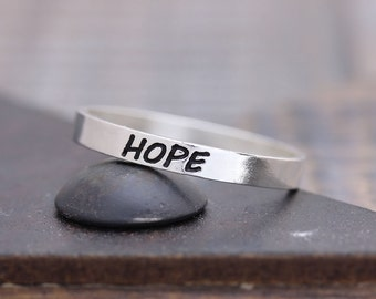 925 sterling silver hope band ring (WPR_00011)