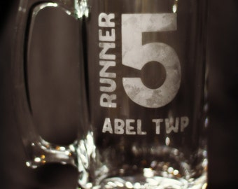 Runner 5 (Zombies, Run!) 20oz Hand Etched Beer Mug