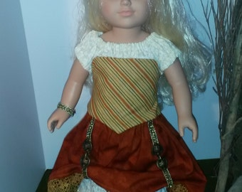 Steampunk American girl Doll Clothes 18 inch doll clothes cosplay