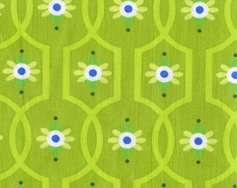 Gypsy Bandana Moonflower Michael Miller Cotton Fabric DC4615 Green, By the Yard