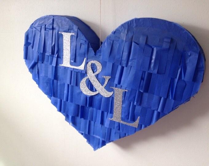 Monagram Piñata, Wedding Piñata Ideas, Personalized Wedding Piñata, Heart Piñata with Custom Initials, Wedding Decor