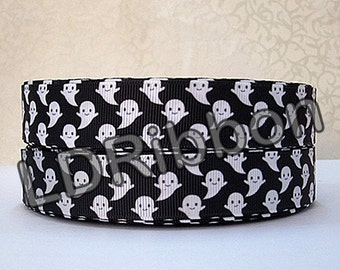"7/8"" Ghost Halloween Grosgrain Ribbon"