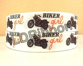 """7/8"""" Biker Girl Grosgrain Ribbon"""