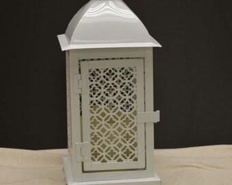 Wedding 12in Lantern Centerpiece . Wedding Decor. Wedding Table Centerpieces. Centerpiece Ideas