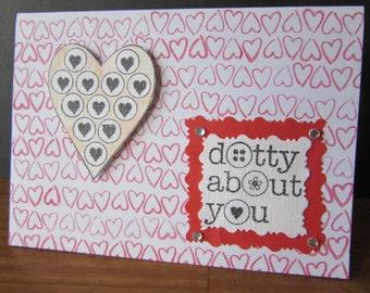 Dotty About You Card, Blank Inside