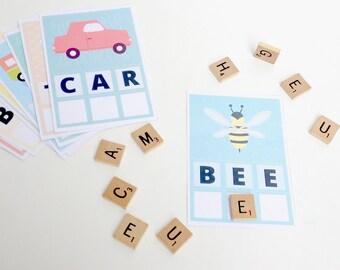 Preschool Word Building Cards