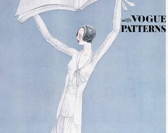 Vogue Magazine Cover Lepape art deco art nouveau home decor print fine art fashion vintage from 1981