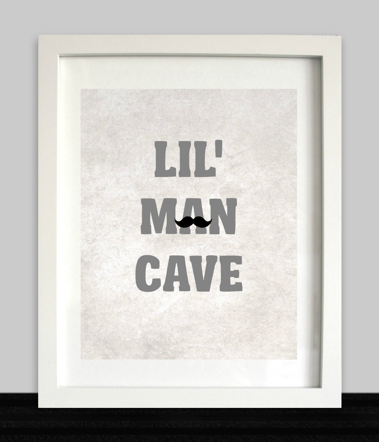 Man Cave Wall Art lil man cave printable // instant download // boys wall art //