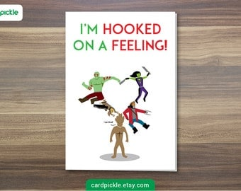 DOWNLOAD Printable Card - I Love You Card - Guardians of The Galaxy Card - Happy Birthday - Happy Anniversary - Valentines Card