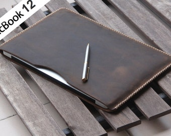 """A02 PERSONALIZED Macbook 12 Sleeve -Genuine leather,Air 11"""" 12"""" 13"""",13 Retina, Pro 15"""", Air pro Sleeve,laptop Sleeves, iPad Pro 9.7, surface"""