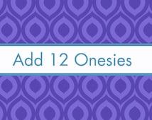 Add 12 White Onesies to my Order, monthly onesie stickers, onesie decorating