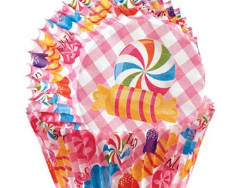 Candy Print Wilton Mini Cupcake Liners Baking Cups Muffin Cups