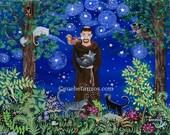 "St. Francis of Assisi & Kitties 8"" x 10"" Print"