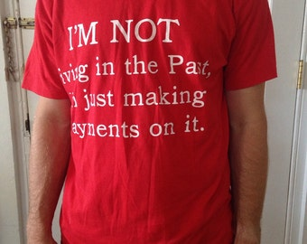 Vintage Screen Stars- Im Not Living in  the Past.- T shirt