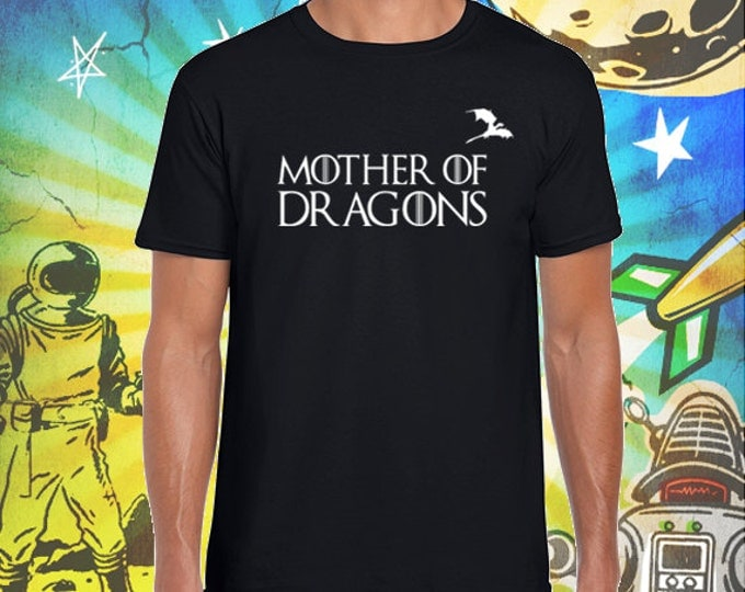 Mother of Dragons Men's Jet Black T-Shirt Game of Thrones Mother of Dragons Khaleesi Tshirt