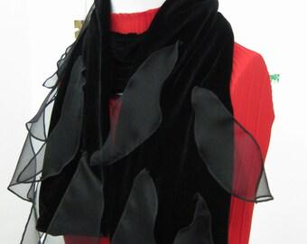 Silk Velvet Petal Scarf