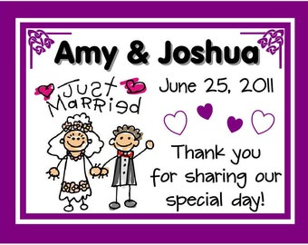 15 Personalized WEDDING MAGNETS ~ Free shipping