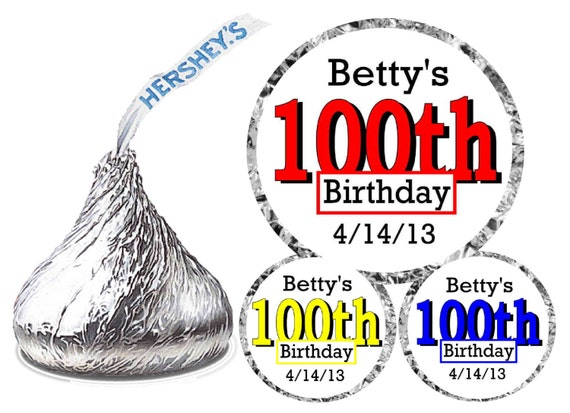 Birthday party hershey kiss kisses stickers labels free shipping