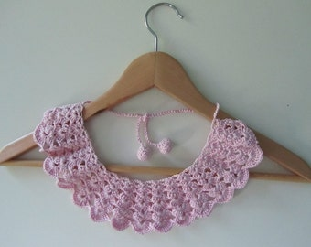 Marshmallow // Crochet Collar // Peter Pan Collar // Detachable Collar // Ready To Ship //