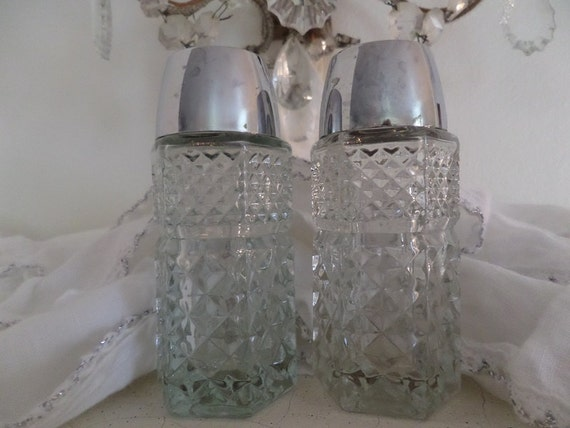 Vintage Paris Apartment Elegant Glass Salt And Pepper Shakers
