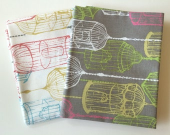 Fat Quarter Duo Birdcage Fabric by Sarah Watts for Blend Fabrics