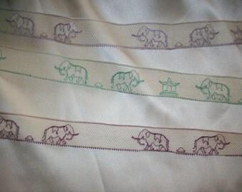 Rare picture/museum lace elephant fine cotton lace 1920s