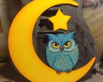 3D Owl Moon