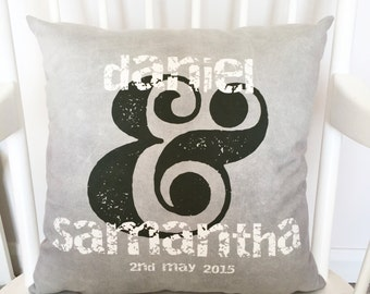 Couples Special Date Cushion - Personalised Cushion - Wedding Gift - Engagement Gift - Gift For Couples - Personalized Cushion